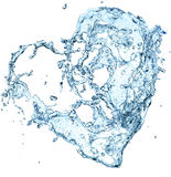 Water heart. Over white background Royalty Free Stock Photos