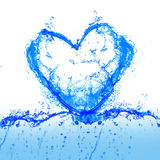 Water and heart Stock Image