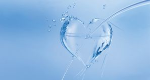 Water Heart with Arrow stock image