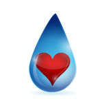 Water and heart illustration design Royalty Free Stock Photos