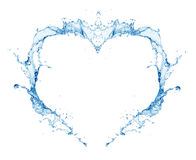 Water heart. Isolated on white background Royalty Free Stock Photos