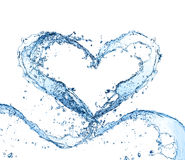 Water heart Stock Photos