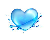 Water heart Royalty Free Stock Photo