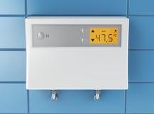 Water heater in bathroom royalty free illustration