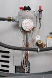 Water heater controls. Water temperature controls on a hot water heater stock photography