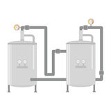 Water heater tank icon Stock Photography