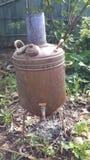 Water heating heat exchanger Stock Photo