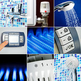 Water heating set Stock Photos