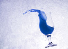 Water het Bespatten van Glas, Grunge-Achtergrond Royalty-vrije Stock Afbeeldingen