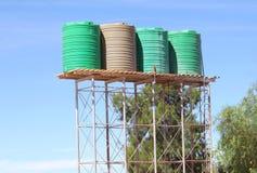 Water het oogsten de tanks van de regenwateropslag, Afrika Stock Foto