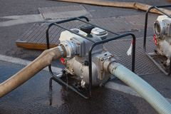 Water het pompen royalty-vrije stock foto