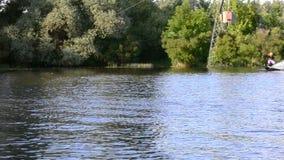 Water het ski?en stock footage