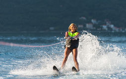 Water het ski?en Royalty-vrije Stock Afbeeldingen