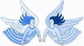 Water het Vliegen Engelen royalty-vrije illustratie