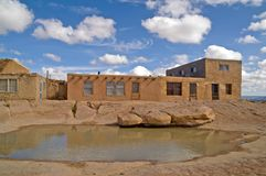 Water hole in Acoma Pueblo, New Mexico Stock Photo