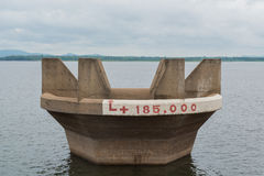 Water Hole at DAM and cloudy sky. In raining day Royalty Free Stock Photography