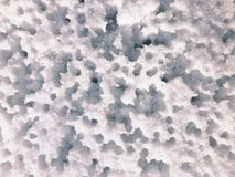 Water holes in snow stock images