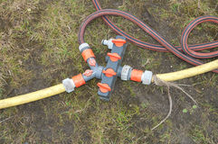 Water hose connection Stock Images