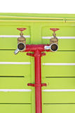 Water hoses and fire extinguish equipment Stock Photos