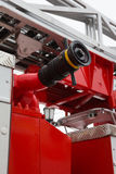 Water hoses in Fire truck - big red Russian fire fighting vehicle Stock Photography