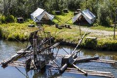 Water-huidig-aangedreven vissenval Royalty-vrije Stock Foto