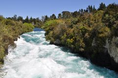 Huka Falls. Water at Huka Falls in New Zealand Stock Image