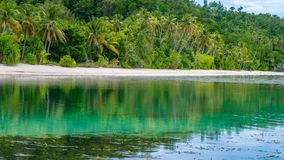 Water Hut of an Homestay on Monsuar Island. Low Tide. Raja Ampat, Indonesia, West Papua.  Stock Photography
