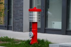 Water hydrant. In an industrial area Stock Photos