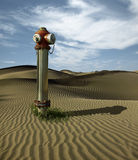 Water hydrant in the sand dunes Royalty Free Stock Photography