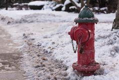 Water hydrant. On a snow Stock Photography