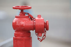 Water hydrant on street. A red color of  Water hydrant on street Stock Photography