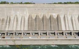 Water Hydro Dam at Niagara Falls. Concrete building Royalty Free Stock Image