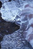 Water-ice. In winter,Pyrenees Stock Photos