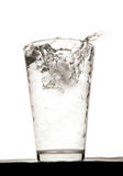 Water with ice. In studio Royalty Free Stock Image