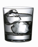 Water and Ice. Glass of Ice and Water stock photos