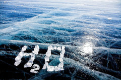 Water from ice Royalty Free Stock Images