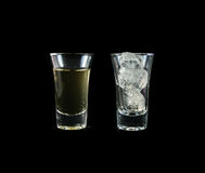 Water with ice cube Royalty Free Stock Photo