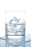 Water with ice cubes Royalty Free Stock Images