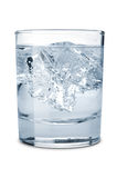 Water with ice in the glass Stock Image