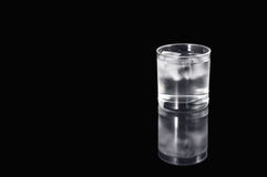 Water and ice in glass Royalty Free Stock Photography