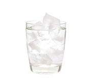 Water with ice in a glass Royalty Free Stock Photo