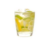 Water with ice, lime and lemon Stock Photography
