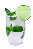 Water with ice, mint, lime Royalty Free Stock Images