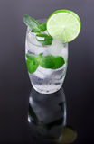 Water with ice, mint, lime Royalty Free Stock Photography