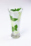 Water with ice, mint, lime Stock Images