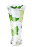 Water with ice, mint, lime Stock Photography