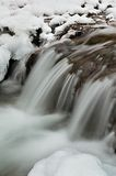 Water and ice. In winter mountain stream Royalty Free Stock Images