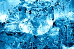 Water and icecubes. Macro of icecubes and fresh water Stock Photography