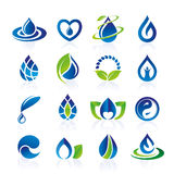 Water icon set Stock Photo