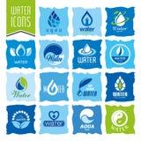 Water icon set Stock Photos
